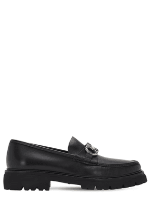 Bleecker Two Tone Logo Leather Loafers