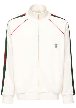 Gg Patch & Web Cotton Track Jacket