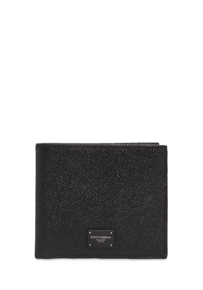 Logo Label Leather Wallet