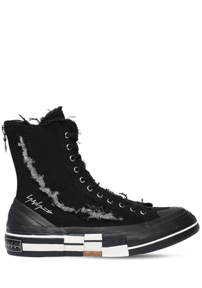 Xvessel Slash Canvas High-top Sneakers