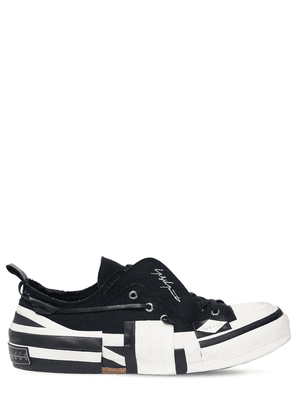 Xvessel Layered Canvas Low-top Sneakers