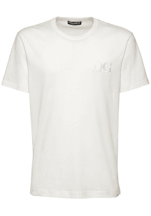 Dg Embroidery Cotton T-shirt