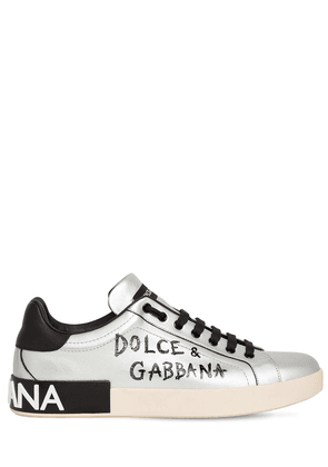 Logo Print Positano Leather Sneakers