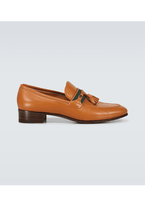 Exclusive to Mytheresa - tasseled leather moccasins