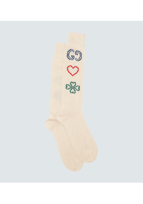GG cotton embroidered socks