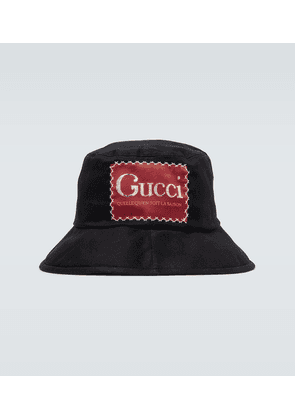 Cotton bucket hat with logo