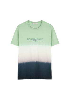 Givenchy Tie-dyed Logo Cotton T-shirt