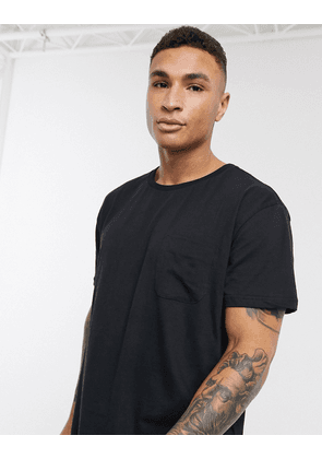 Dr Denim Russ pocket t-shirt-Black
