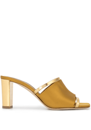 Malone Souliers Demi 70mm metallic-trimmed mules - GOLD