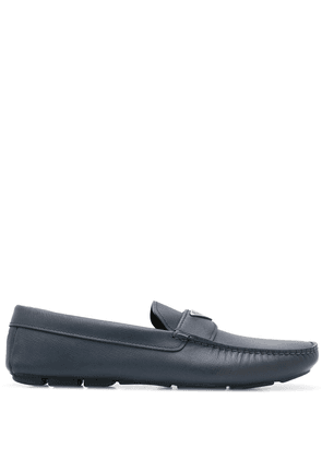Prada logo plaque driving loafers - Blue