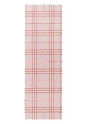 Burberry lightweight check scarf - PINK
