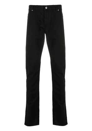 Balmain logo patch skinny jeans - Black