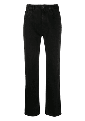 Prada high-rise straight leg jeans - Black