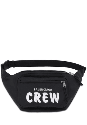 Logo Crew Embroidery Nylon Belt Bag