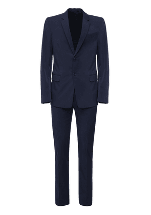 Single Breasted Stretch Poplin Suit