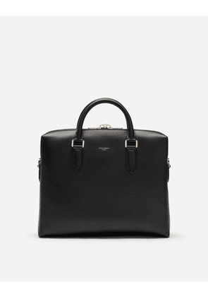 Dolce & Gabbana Business Bags - CALFSKIN BRIEFCASE BLACK