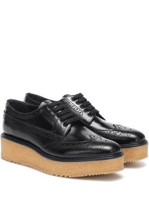 Leather platform brogues