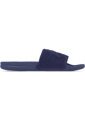 APL Athletic Propulsion Labs - TechLoom Logo-Embossed Slides - Men - Blue