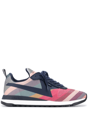 Paul Smith striped-knit low top trainers - Blue