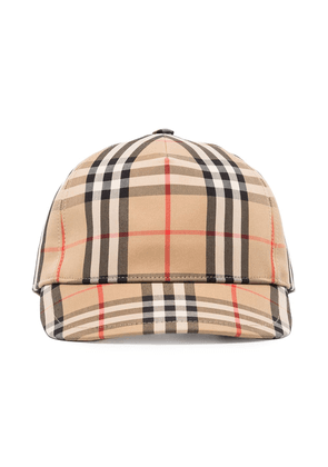 Burberry logo-patch Vintage Check baseball cap - Brown