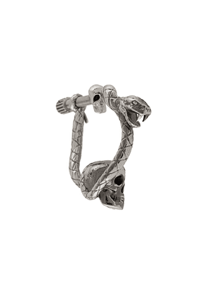 Alexander McQueen skull and snake earring - Metallic