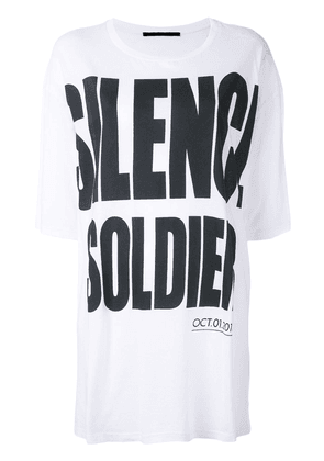Haider Ackermann 'Silence is Golden' oversize T-shirt - White