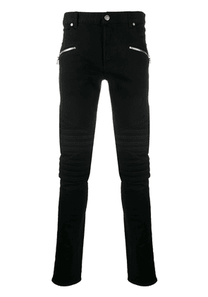 Balmain zip-detail slim-fit jeans - Black