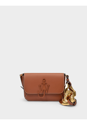 Chain Midi Anchor Bag in Pecan Cow Leather