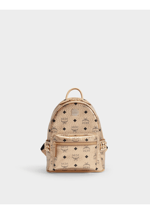 Stark Small Backpack in Black Coated Canvas | MILANSTYLE.COM