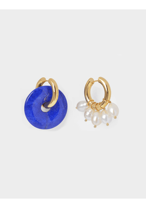 Pearl-Embellished Mismatched Earrings