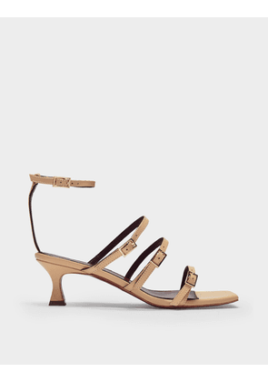 Naomi Sandals in Vanilla Leather