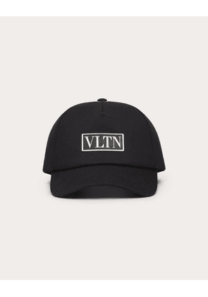 Valentino Vltn Cotton Baseball Cap Man Black Cotton 100% 57