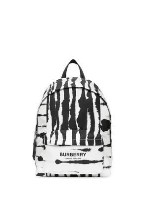 Burberry Watercolour-print backpack - White