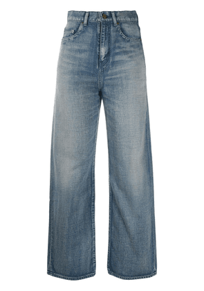 Saint Laurent faded straight-leg jeans - Blue