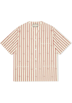 Gucci GG stripe bowling shirt - White