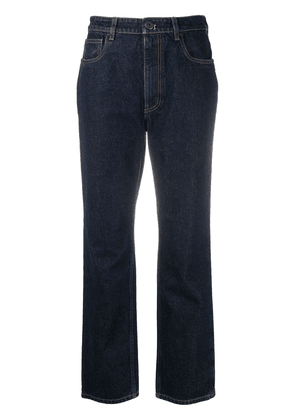Prada triangle-logo straight-leg jeans - Blue