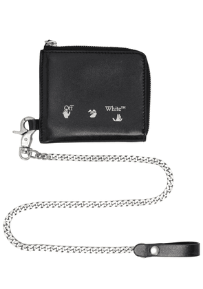 Logo Leather Chain Wallet