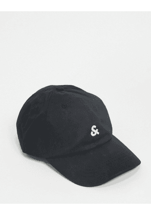 Jack & Jones logo Baseball Cap-Black
