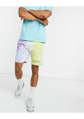 Blood Brother pale tie dye short in white