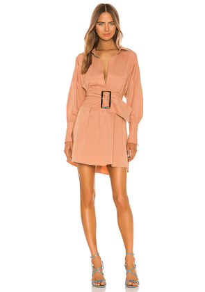 C/MEO Artwork Dress in Tan. Size XS.