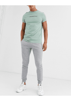ASOS DESIGN skinny joggers in grey marl