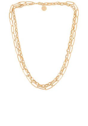 Cloverpost Knit Necklace in Metallic Gold.