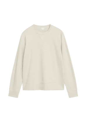 French Terry Sweatshirt - Beige