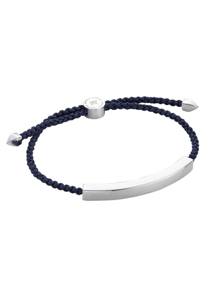 Silver Linear Large Men's Friendship Bracelet