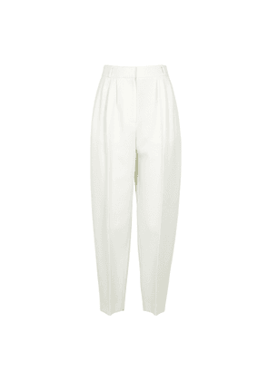 Alexander McQueen Ivory Tapered Wool-blend Trousers