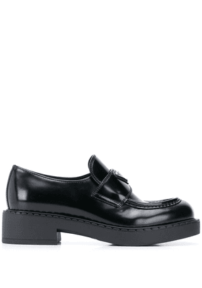 Prada chunky sole logo loafer - Black