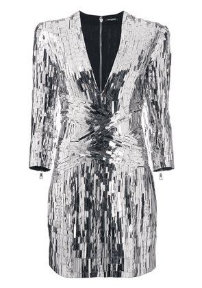 Balmain sequin embellished mini dress - SILVER