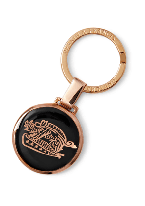 Kingsman - Deakin & Francis Rose Gold-Plated and Enamel Key Fob - Men - Rose gold