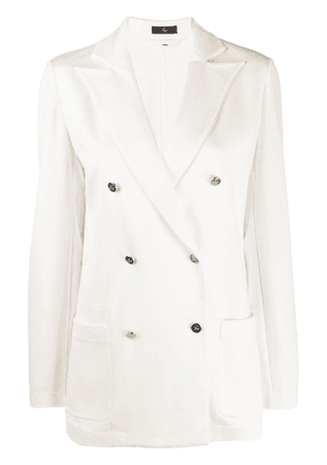 Fay boxy fit double breasted blazer - White