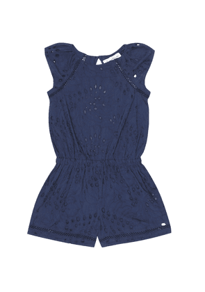 Broderie-anglaise cotton playsuit